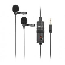 Микрофон двойной петличный Boya BY-M1DM