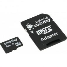 SmartBuy microSDHC Class 10 4GB(SB4GBSDCL10-01)+SD адаптер